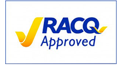 RACQ logo - Arrow Caravans