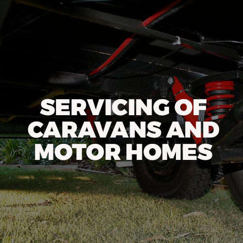 servicing of caravans and motorhomes